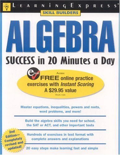Algebra Success in 20 Minutes a Day 9781576854860