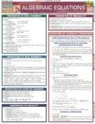 Algebraic Equations Laminate Reference Chart 9781572227217