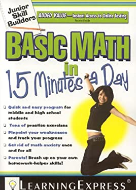 Basic Math in 15 Minutes a Day [With Free Online Practice Exercises Access Code] 9781576856604