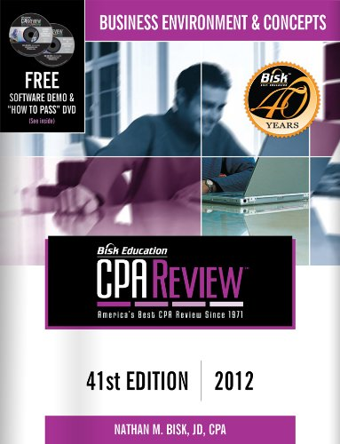 CPA Comprehensive Exam Review: Business Environment & Concepts 9781579618780