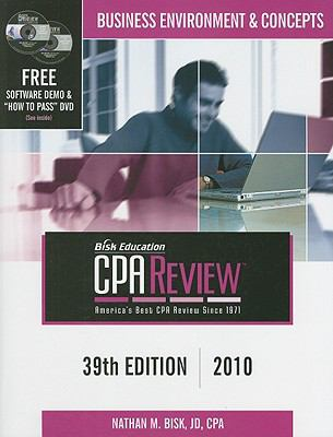Bisk Comprehensive CPA Review: Business Environment & Concepts 9781579617363