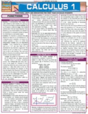 Calculus 1 Laminate Reference Chart: Functions, Limits and Derivatives for First Year Calculus Students