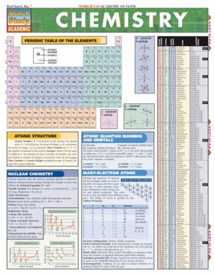 Chemistry Laminate Reference Chart 9781572224513