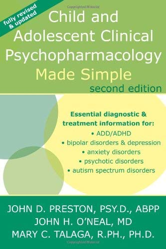 Child and Adolescent Clinical Psychopharmacology Made Simple 9781572247031