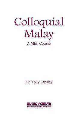 Colloquial Malay 9781579700850