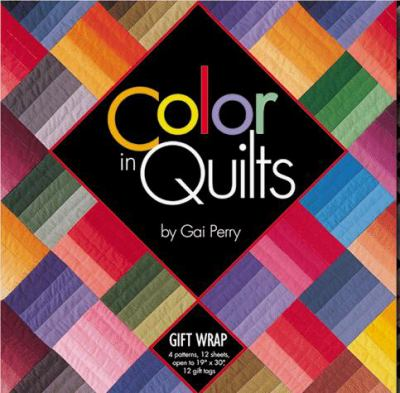 Color in Quilts Gift Wrap [With 12 Gift Cards] 9781571200822