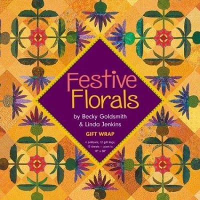 Festive Florals Gift Wrap 9781571202505