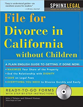 File for Divorce in California Without Children 9781572486294