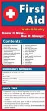 First Aid Laminate Reference Charts 9781572227712