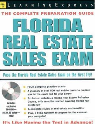 Florida Real Estate Sales Exam [With CDROM] 9781576854990