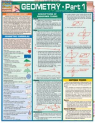 Geometry: Part 1 Laminate Reference Chart: Segments, Lines, Planes, Geometric Formulas