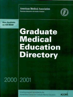 Graduate Medical Education Directory 2000-2001 9781579470609