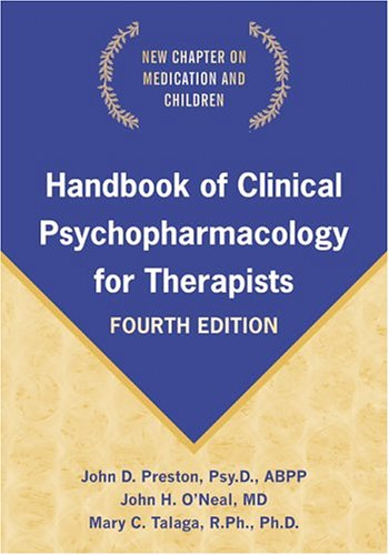 Handbook of Clinical Psychopharmacology for Therapists 9781572243996