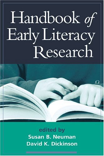 Handbook of Early Literacy Research, Volume 1 9781572306530