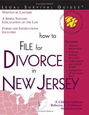 How to File for Divorce in New Jersey 9781572482395