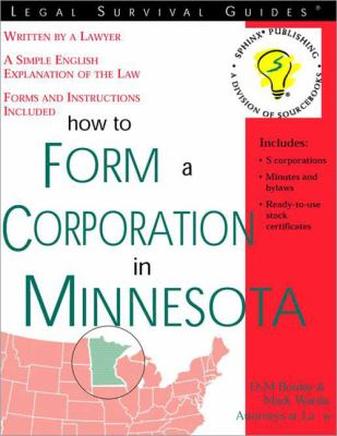 How to Form a Corporation in Minnesota 9781572481794