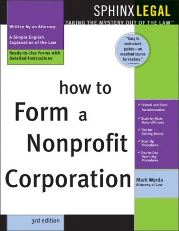 How to Form a Nonprofit Corporation 9781572483903