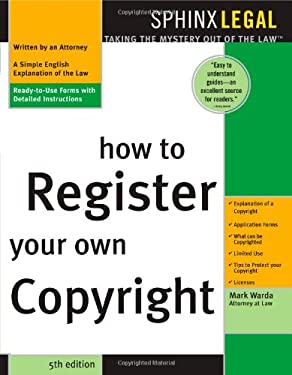How to Register Your Own Copyright 9781572483798