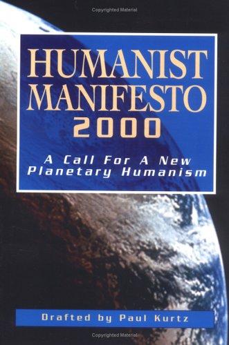 Humanist Manifesto 2000 9781573927833