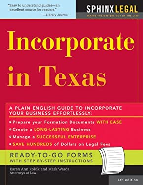 Incorporate in Texas 9781572485839