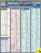 Italian Vocabulary Laminate Reference Chart 9781572228283