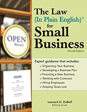 Law (in Plain English) for Small Business 9781572485990