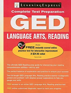LearningExpress's GED Language Arts, Reading [With Access Code] 9781576856161