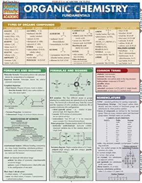 Organic Chemistry Laminate Reference Chart: Fundamentals 9781572225541