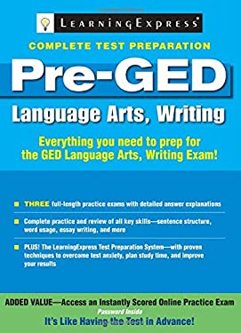 Pre-GED: Language Arts, Writing 9781576857519