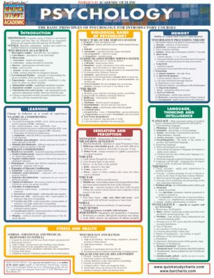 Psychology Laminate Reference Chart: The Basic Principles of Psychology for Introductory Courses