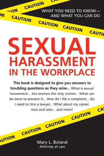 Sexual Harassment in the Workplace 9781572485273