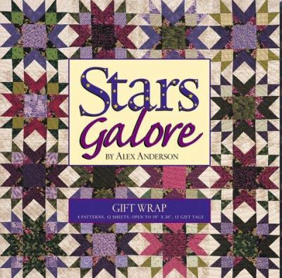 Stars Galore Gift Wrap [With 12 Gift Cards] 9781571200839