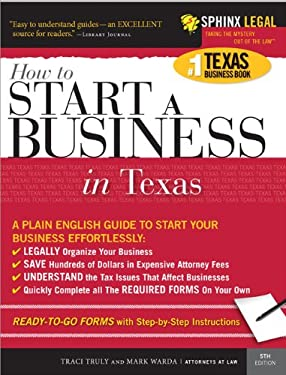 Start a Business in Texas, 5e 9781572485600