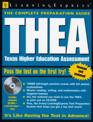 THEA: Texas Higher Education Assessment [With CD-ROM] 9781576854754