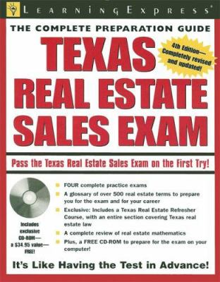 Texas Real Estate Sales Exam [With CDROM] 9781576855423