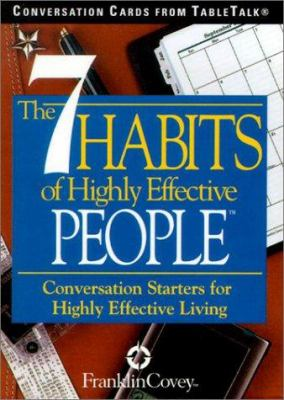 The 7 Habits of Highly Effective People: Conversation Cards from TableTalk: Conversation Starters for Highly Effective Living 9781572813953