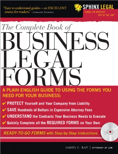 The Complete Book of Business Legal Forms [With CDROM]