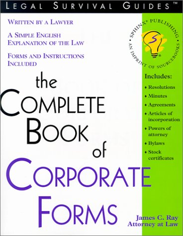 The Complete Book of Corporate Forms 9781572481664