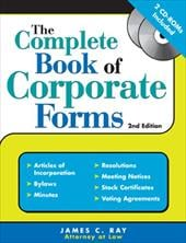 The Complete Book of Corporate Forms [With CDROM]