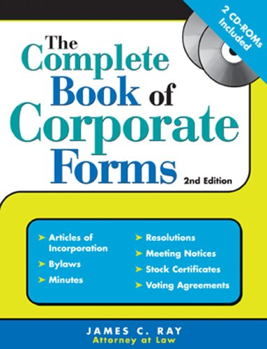 The Complete Book of Corporate Forms [With CDROM] 9781572485075