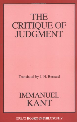 The Critique of Judgment 9781573928373
