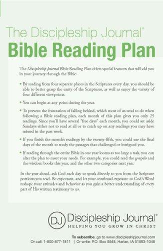The Discipleship Journal Bible Reading Plan 9781576839744