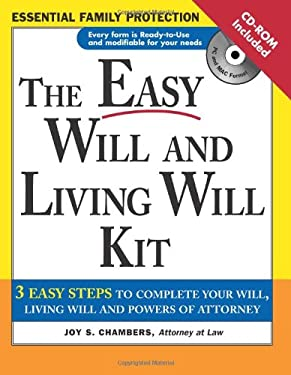 The Easy Will and Living Will Kit [With CDROM] 9781572484818