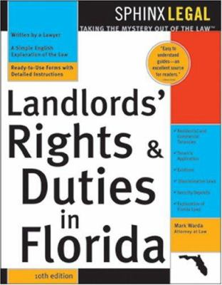 The Landlords' Rights&duties in Florida, 10e 9781572484917