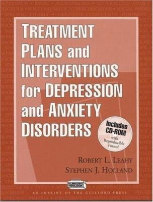 Treatment Plans and Interventions for Depression and Anxiety Disorders [With CDROM] 9781572305144
