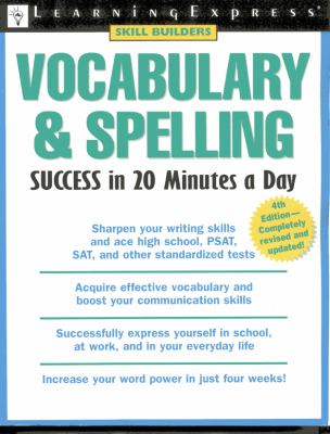 Vocabulary & Spelling Success in 20 Minutes a Day 9781576855454