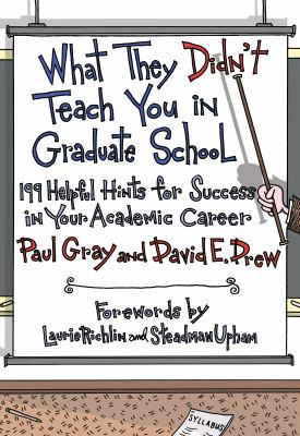 What They Didn't Teach You in Graduate School: 199 Helpful Hints for Success in Your Academic Career 9781579222642