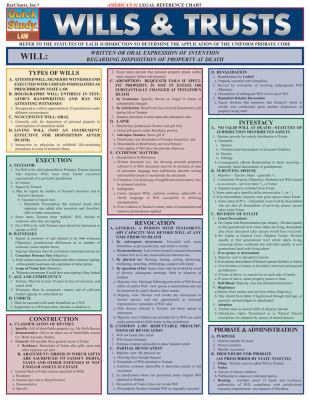 Wills & Trusts Laminate Reference Chart 9781572228153