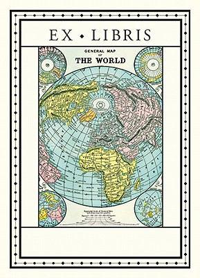 Ex Libris World Map Bookplates 9781574890686
