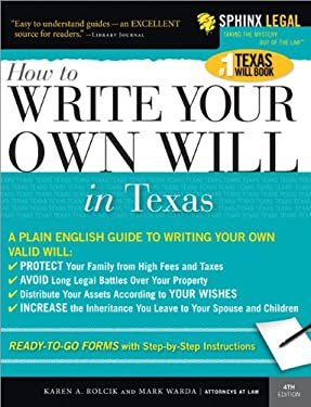Write Your Own Texas Will [With CDROM] 9781572485136